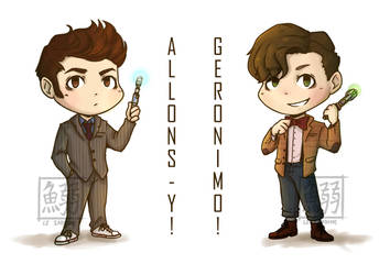 Doctor Who 10th and 11th by LeSardine