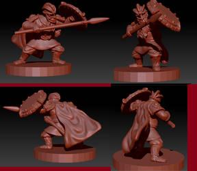Dwarf Heroe WIP: 2 by ItlerionMenhir