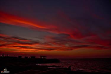 Sunset sky by Moe-zie