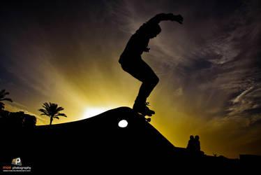 Skateboarding by Moe-zie