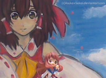 Reimu + Mikuru by AsukaxSekai
