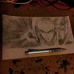 One Punch Man Sketch by MassoArt