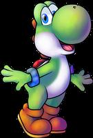 Yoshi (Princess Daisy Scribble Scramble) by MisterYoshiandwatch