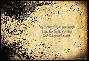 15 word poetry - weak - by Mandy Williams by kandi