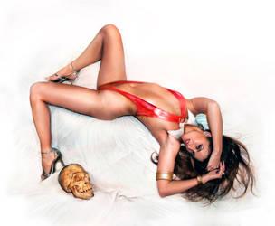 Melissa Jean as Vampirella 6 by @E-DigitalFantasy by FueledbypartII