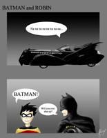 BATMAN and ROBIN by chocodragon