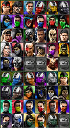 MK3/UMK3 Enhanced character arcade select icons by PalettePix