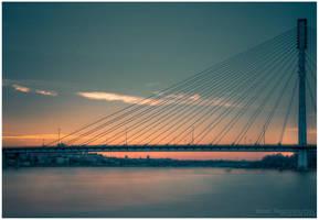 Swietokrzyski Bridge by Nightc0m