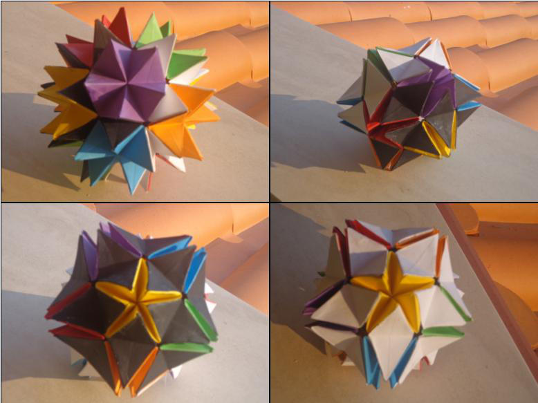 Multi Colored Origami Revealed Flower By Reptilonic On Deviantart