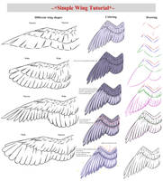Simple Wing Tutorial by CrimsonxScorpion