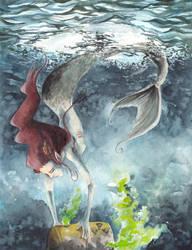 Mermaid in north sea by MajorKoryu