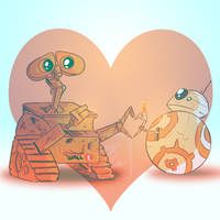BB8 and WallE by Spencer-Bowen