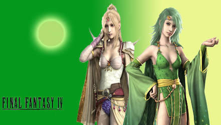 PSPW-FFIV Rosa and Rydia by UltimaAura