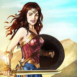 Commission Art: Wonder Woman! by nairarun15