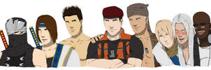 Male Characters of DOA by dagreenpillow