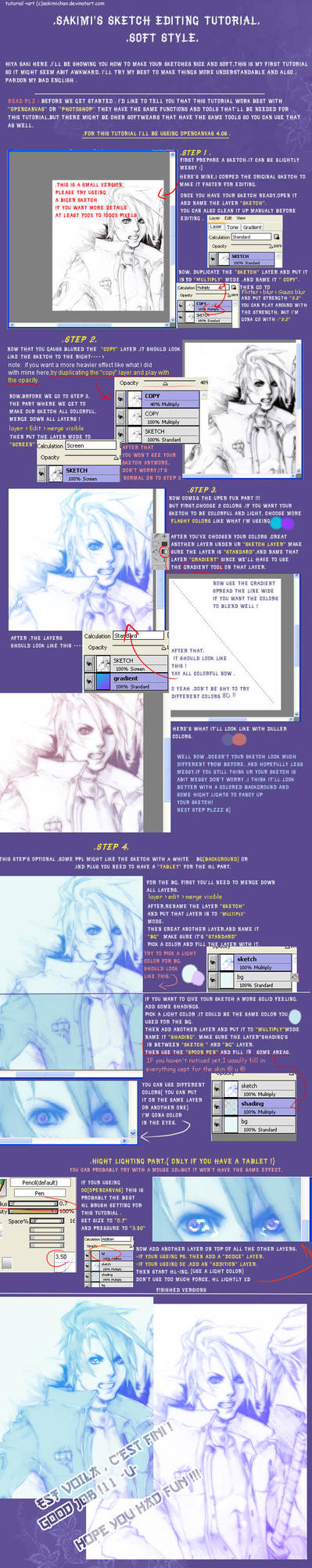 .Sketch editing tutorial.soft by sakimichan