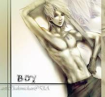 .sword boy. by sakimichan
