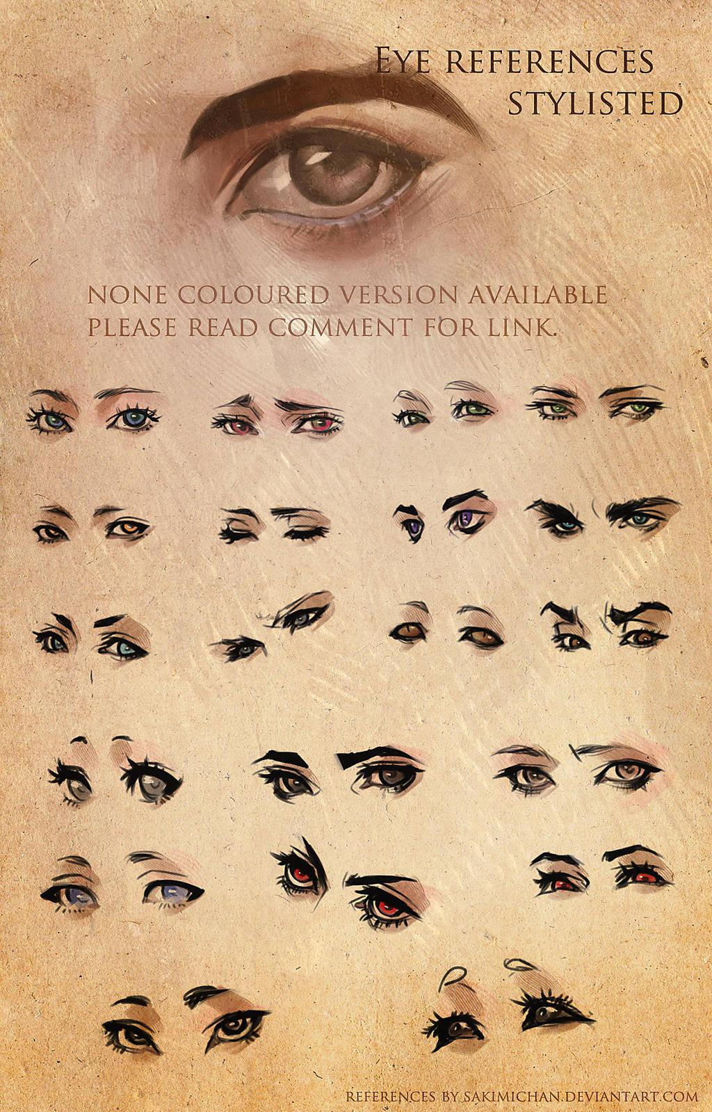 Stylized Eye References by sakimichan