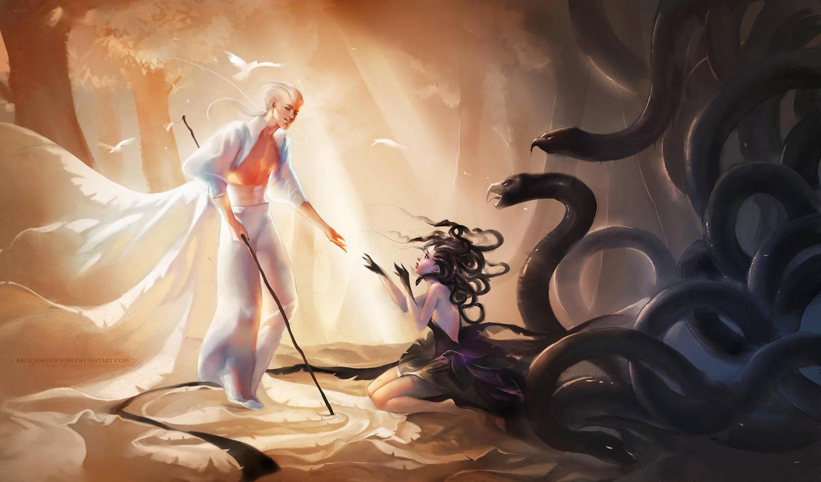 Medusa's Saviour Resubmit by sakimichan