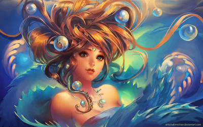Game Girl .Under water. by sakimichan