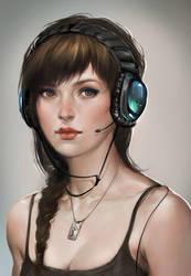 Gamer girl by sakimichan