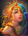 Rainbow by sakimichan