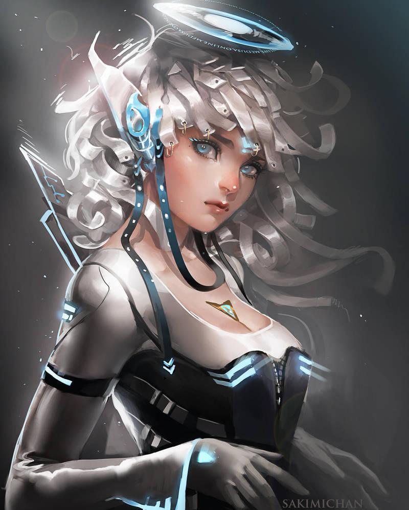 Si-Fi Elf by sakimichan
