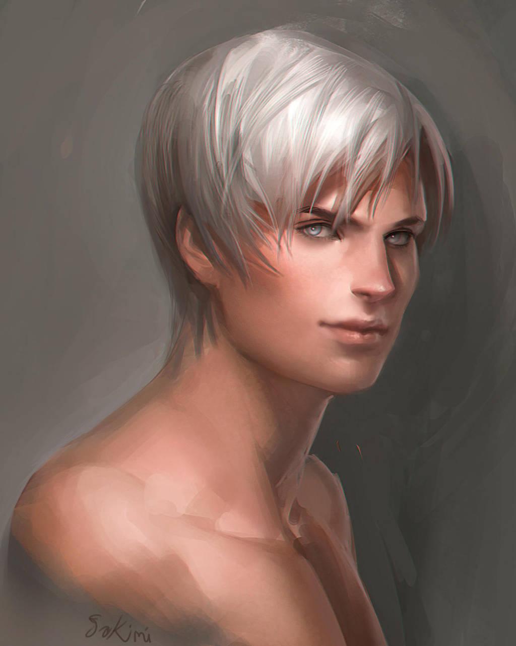 portrait by sakimichan