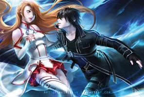 Sword Art online by sakimichan