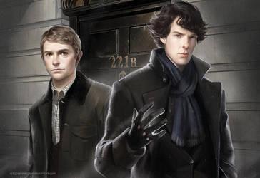 Sherlock by sakimichan
