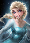 Elsa by sakimichan
