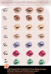 Eye reference and tutorial package by sakimichan