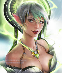 Elf lady by sakimichan