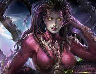Kerrigan chilling by sakimichan