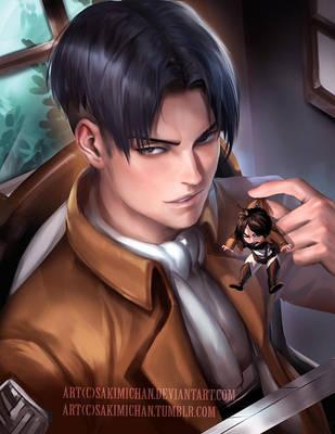 Levi's evil plan by sakimichan
