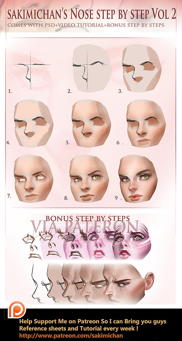 Nose tutorial vol 2 by sakimichan