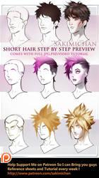 Short hair tutorial pack by sakimichan