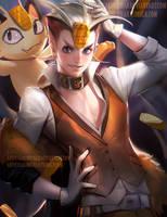 Meowth by sakimichan
