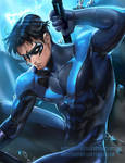 NightWing .NSFW optional. by sakimichan