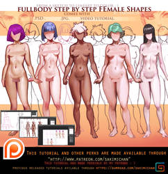 fullbody Female Variation video tutorial .promo. by sakimichan