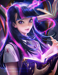 Twilight Sparkle by sakimichan