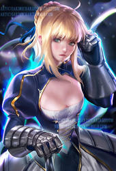 Saber/Ver02 .NSFW optional. by sakimichan