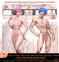 How to paint female male nude.Voice over tutorial. by sakimichan