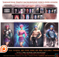 Simple Background.Voice over tutorial. by sakimichan