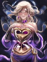 Hour Glass Goddess speedpaint by sakimichan