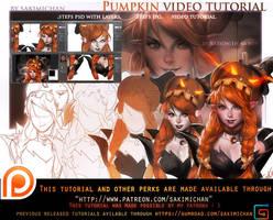 pumpkin elf video tutorial pack.promo. by sakimichan