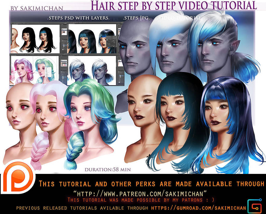 Hair Style Step Be Step Video Tut Pack Omo By Sakimichan On