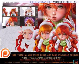 Christmas Elf tutorial pack .promo. by sakimichan