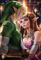 Link Zelda by sakimichan
