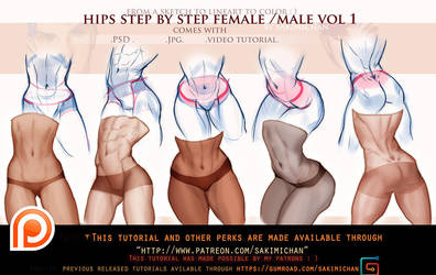 Hips step by step male/female tutorial pack.promo. by sakimichan